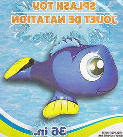 Splash-n-Swim 36 Inflatable Ride On Pool Toy Clown Fish 4+