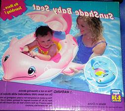 Poolmaster 81559 Learn-to-Swim Dolphin Baby Float with Shade