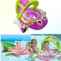 SwimSchool Bouncing Butterfly Baby Boat with Adjustable/Retr