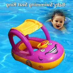 Adjustable Inflatable Baby Float Seat Boat Ring Car Sunshade