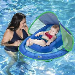Adjustable Pool Float Sun Canopy Infant Baby Spring With Sof
