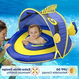 SwimSchool Angel-The-Fish Fabric Baby Boat, Retractable Cano