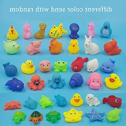 1 Pcs Kids Animals Toys Random Soft Vinyl Float Sqeeze Sound