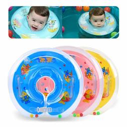 Baby BB Swimming Neck Float Inflatables Ring Adjustable Safe
