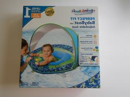 Swim School Baby Boat Float With Canopy Sun Shade Blue Level