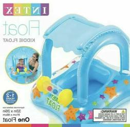 BABY FLOAT SWIMMING Pool Infant Kiddie Tube Raft With Canopy