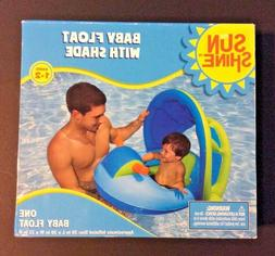 Sunshine Baby Float with Shade Inflatable Ages 1-2 years Kid