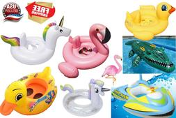 Baby Kids inflatable cute float swimming ring tube swim trai