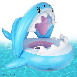 Baby Pool Float Swimming Float with Canopy Inflatable Floati