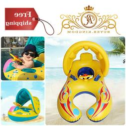 Baby Pool Float With Holes And Canopy Toxic Free Inflatable