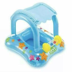 Baby Pool Floats With Canopy Inflatable Floaties Shade For T