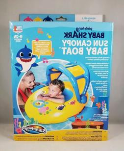 Baby Shark Sun Canopy Baby Boat Float by SwimWays Learn to S