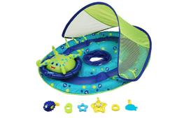 SwimWays Baby Spring Float Activity Center with Canopy - Blu