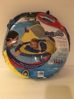 SwimWays Baby Spring Float Sun Canopy Blue/Yellow