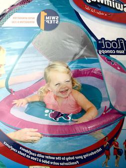 Swimways Baby Spring Float Sun Canopy - Pink Fish 9-24 Month
