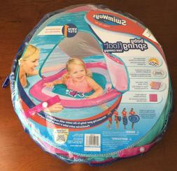 Swimways baby spring float sun canopy pink new