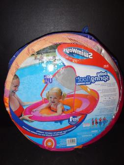 SWIMWAYS BABY SPRING FLOAT SUN CANOPY PINK/ORANGE COLOR   NE