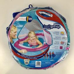 SwimWays Baby Spring Float w/Sun Canopy ~ Pink ~ Fish ~ 9-24