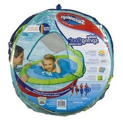Swimways Baby Spring Float with Sun Canopy - Green Fish