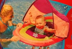 Swimways Baby Spring Float with Sun Canopy PINK - NEW Bonus