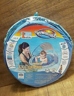 SwimWays Baby Spring Pool Float Sun Canopy Owls Ages 9-24 Mo