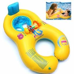 Baby Swim Float Ring Kids Seat Double Person Swimming Pool S
