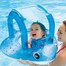 Baby Swimming Floats Swim Shade Seat Ring Summer Out Pool To