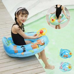 Baby Swimming Pool Bath Neck Floating Inflatable Ring Circle
