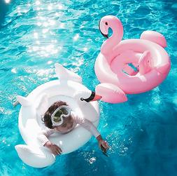 Baby Swimming Pool Inflatable Pink Flamingo Swan Swim Float