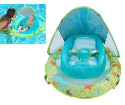 Inflatable Infant Baby Pool Float with Canopy Fabric-covered
