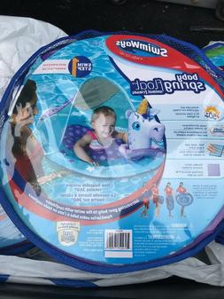 Swimways Character Pool Canopy Baby Spring Float Animal Frie