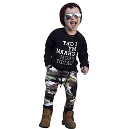Clearence KpopBaby Toddler Kids Baby Boy Cool Letter T Shirt