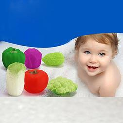6Pcs Baby Cute Soft Rubber Float Sound Baby Wash Bath Play V