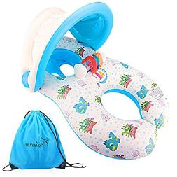 Dual Person Mommy and Baby Inflatable Baby Pool Float Swimmi