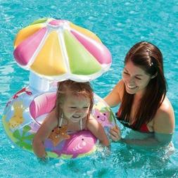 Intex Fish & Friends Baby Float Inflatable Pool Tube Raft w/