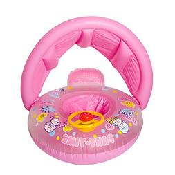 Baby Float, Botitu Sunshade Inflatable Pool Toys for Babies