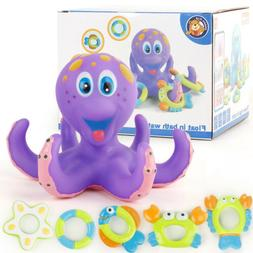 Floating Bath Toys Baby Octopus Kids Baby Infant Toddlers 5