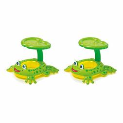 Intex Froggy Friend Shaded Canopy Baby Kiddie Pool Floating