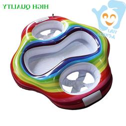 High Quality Inflatable Twin Baby Double Swim Float Seat Wat
