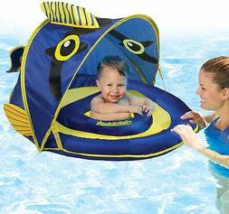 Home Swimming Pool Kids Inflatable Swim Float Sunshade w/ Ca