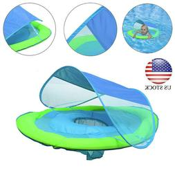 Infant Baby Spring Float Swimming Ring Inflatable Adjustable
