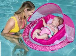 SwimWays Infant Baby Spring Float with Adjustable Sun Canopy