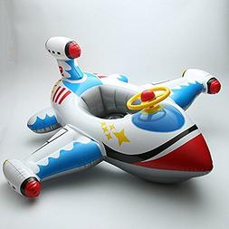 qicaibei Inflatable Airplan Motoboat ride on Baby Kids toldd