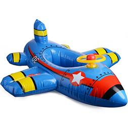 TiTa-Dong Inflatable Airplane, Baby Aircraft Motorboat with