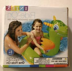 Inflatable Intex Baby Dragon Ride On 51 x 42 Pool Float NEW