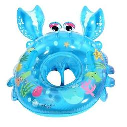 UCLEVER Inflatable Baby Pool Float Crab Swimming Ring with H
