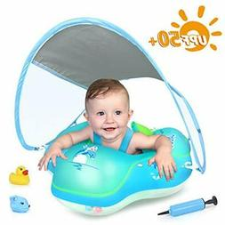 LAYCOL Inflatable Baby Pool Float with Sun Protection Canopy