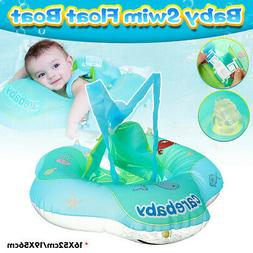 Inflatable Kids Boat Raft Baby Back Float Swimming Ring Pool