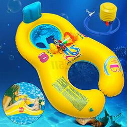 Inflatable Mother & Baby Soft Swim Float Raft Kid's Chair Se