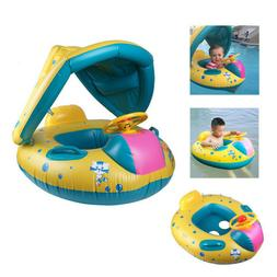 Inflatable Mother & Baby Swim Ring Float Raft Seat Swimming